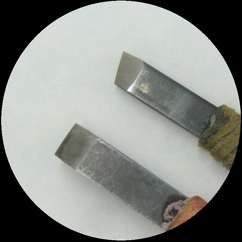 鉄筆の刃の写真